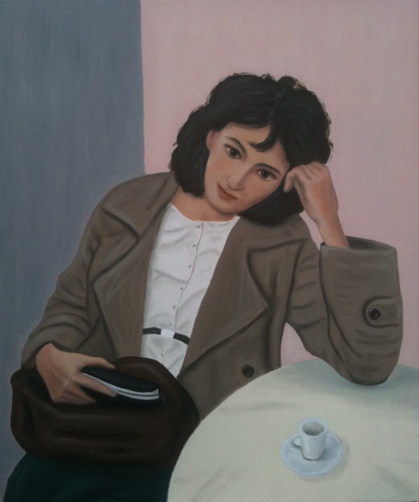 Donna con camicia bianca, 2012