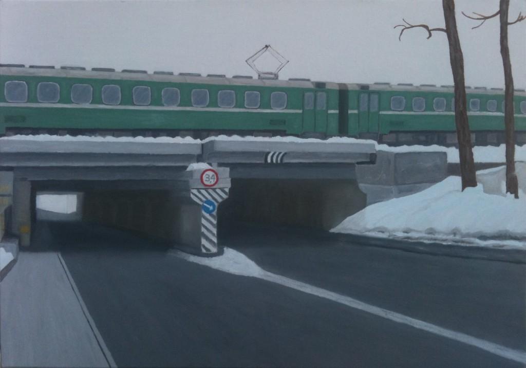 Mosca. Nei pressi del Vinzavod, 2012